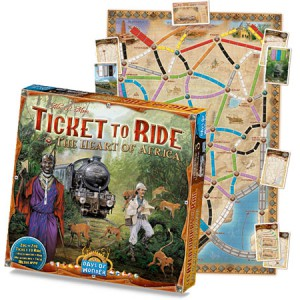 Ticket to Ride - The Heart of Africa (Image by Days of Wonder)