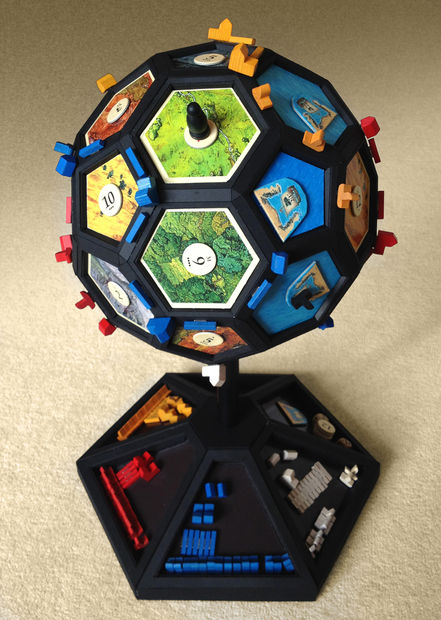 Globefarers of Catan (Image by PenfoldPlant on Instructables)