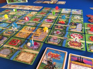 Look at those meeples holding things!!! (Tiny Epic Quest, image by Gamelyn Games)